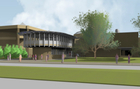 New building rendering for web